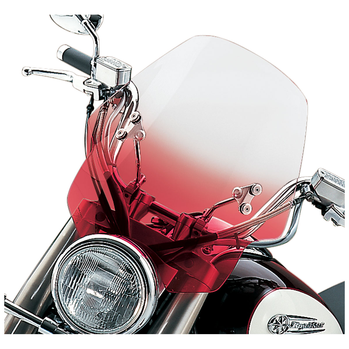 Memphis Shades Hell Cat Gradient Ruby Handlebar Mount Windshield