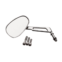 BikeMaster Chrome Custom Mirror with Low Rise Stem
