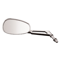 BikeMaster Mini American Chrome Oval Mirror