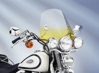 Memphis Shades The Shooter Gradient Yellow Handlebar Mount Windshield