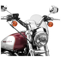 National Cycle Flyscreen Windshield, Chrome, Light Tinted
