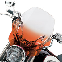 Memphis Shades Hell Cat Gradient Orange Handlebar Mount Windshield