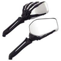 Hand Bone Mirror Chrome and Black