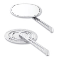 Milwaukee Twins Chrome Custom Oval Mirrors