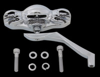 J&P Cycles® Three Skull Mirror Head with Winged Stem