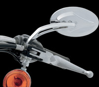 J&P Cycles® Oval Spear Mirrors with Round Stem