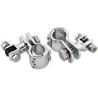 1-1/2″ Chrome Universal Clamp On Footpeg Mount Kits