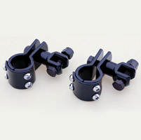 1″ Black Universal Clamp On Footpeg Mount Kits