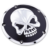 Milwaukee Twins Chrome and Black Skull Derby Cover