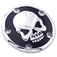 Milwaukee Twins Chrome and Black Skull Point Cover