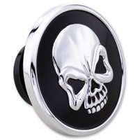 Milwaukee Twins Black and Chrome Skull Gas Cap