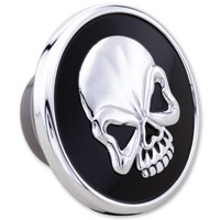 Milwaukee Twins Black and Chrome Skull Vented Gas Cap