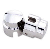 Milwaukee Twins Dome Rear Axle Nut Covers