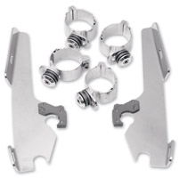 Memphis Shades Polished Trigger-Lock Mount Kit for Batwing Fairings and Fats/Slims Windshields