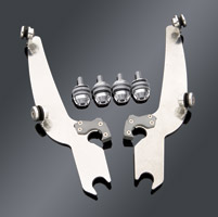 Memphis Shades Sportshield Polished Trigger-Lock Mount Kit - Models without Lightbar