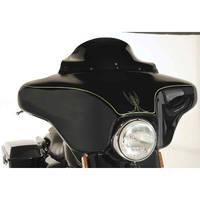 Klock Werks 6-1/2″ Black Flare Windshield