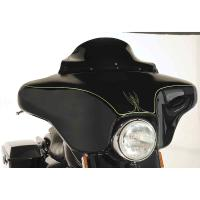 Klock Werks Black Flare Windshield 6-1/2″