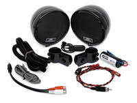 Rumble Road 100W Ultra Speaker Kit, Black Powder-coated With 1″ Clamps