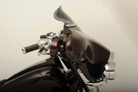 Klock Werks Dark Smoke 6″ Flare Windshield For Memphis Shade Batwing Fairing