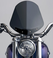 National Cycle Dark Tint Gladiator Windshield with Chrome Standard Mount for Sportster