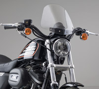 National Cycle Light Tint Gladiator Windshield with Chrome Standard Mount for Sportster
