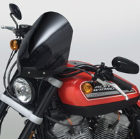 National Cycle Dark Tint Gladiator Windshield with Black Standard Mount for Sportster