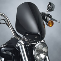 National Cycle Dark Tint Gladiator Windshield with Chrome In-Line Bolt Pattern for Dyna Wide Glide Models