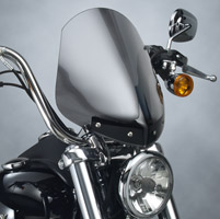 National Cycle Light Tint Gladiator Windshield with Chrome In-Line Bolt Pattern for Dyna Wide Glide Models