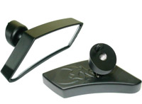 Fairing Mounted Black Fusion Micro Mirrors for Touring Models