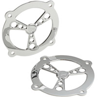 Battistinis Chrome Fairing Speaker Grills for FLH Models