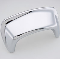Light Brow Chrome Fairing Wind Deflector