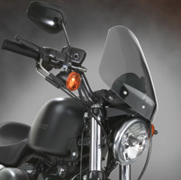 National Cycle Gladiator Light Tint Windshield with Black Hardware