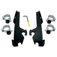 Memphis Shades Fats/Slims/Batwing Fairing Black Trigger Lock Mount Kit