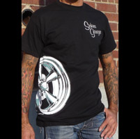 Sick Boy Sickies Garage Men's Wheel Black T-Shirt