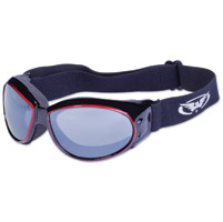 Global Vision Eyewear Eliminator CF Black/Red Frame Goggles w/Mirror Lens