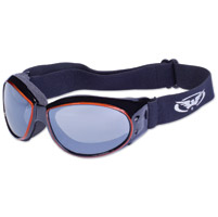 Global Vision Eyewear Eliminator CF Black/Orange Frame Goggles w/Mirror Lens