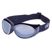 Global Vision Eyewear Eliminator CF Black/Silver Frame Goggles w/Mirror Lens