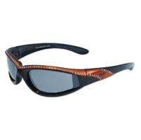 Global Vision Eyewear Marilyn 11 Black/Orange Frame Sunglasses w/Mirror Lens
