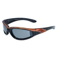 Global Vision Eyewear Marilyn 11 Black/Orange Frame Sunglasses w/Mirror Lens