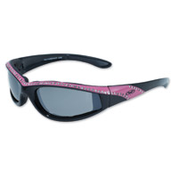 Global Vision Eyewear Marilyn 11 Black/Pink Frame Sunglasses w/Mirror Lens
