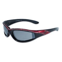 Global Vision Eyewear Marilyn 11 Black/Red Frame Sunglasses w/Mirror Lens