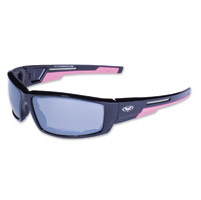 Global Vision Eyewear Sly CF Black/Pink Sunglasses w/Mirror Lens