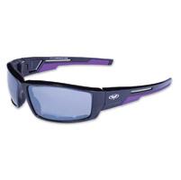 Global Vision Eyewear Sly CF Black/Purple Sunglasses w/Mirror Lens
