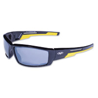 Global Vision Eyewear Sly CF Black/Yellow Sunglasses w/Mirror Lens