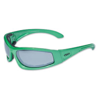 Global Vision Eyewear Triumphant CF1 Green Sunglasses with Mirror Lens