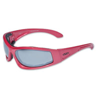 Global Vision Eyewear Triumphant CF1 Red Sunglasses with Mirror Lens