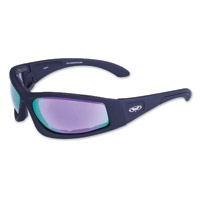 Global Vision Eyewear Triumphant G-Tech Black Sunglasses w/Purple Lens