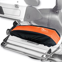 BikeSheath Black and Orange Saddlebag Lid Covers