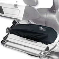 BikeSheath Black Saddlebag Lid Covers