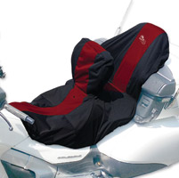 BikeSheath Black and Burgundy Seat and Tank Cover